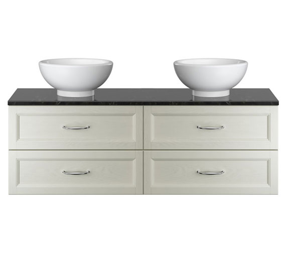 Additional image of Heritage Caversham Double Wall Hung 2 Drawer Vanity Unit With Basin