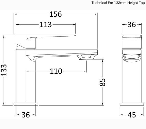 Technical drawing QS-V96371 / BAI345