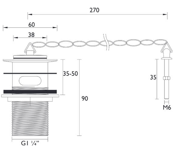 Technical drawing QS-V26143 / W BASIN01 C