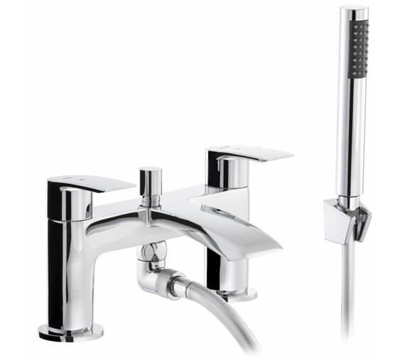 Abode Loop Deck Mounted Bath Shower Mixer Tap With Kit