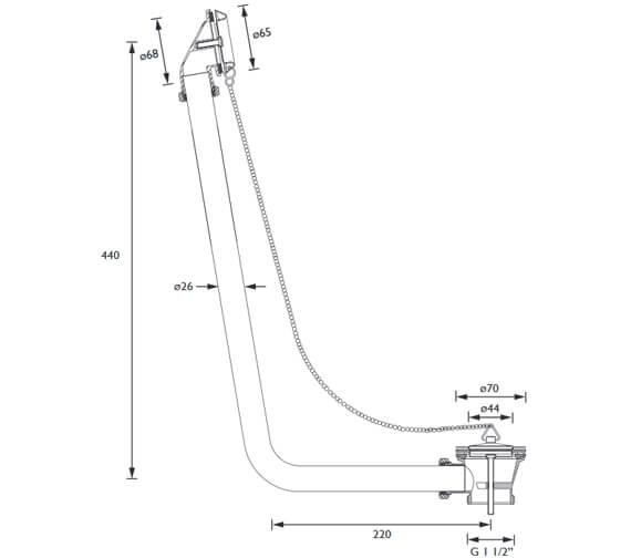 Technical drawing QS-V95932 / W BATH08 C