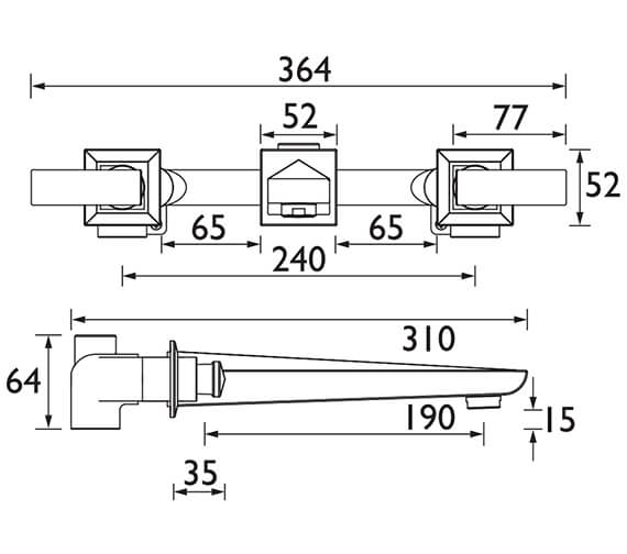 Technical drawing QS-V82022 / THPC11