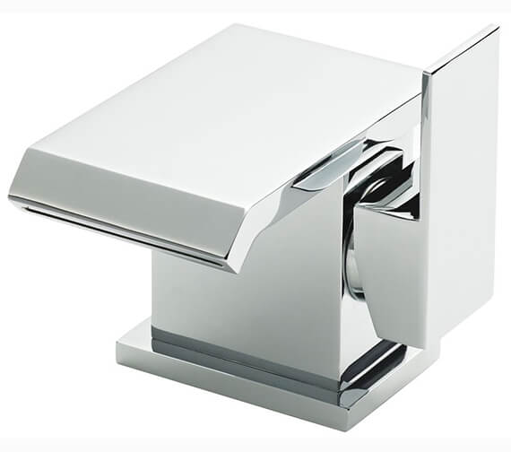 Hudson Reed Bloc Side Action Mono Basin Mixer Tap With Waste - EX-DISPLAY
