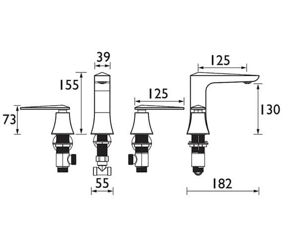 Technical drawing QS-V72669 / THPC073