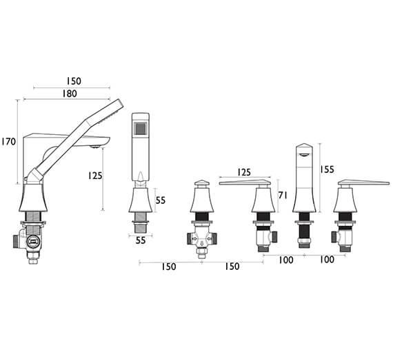 Technical drawing QS-V72668 / THPC02