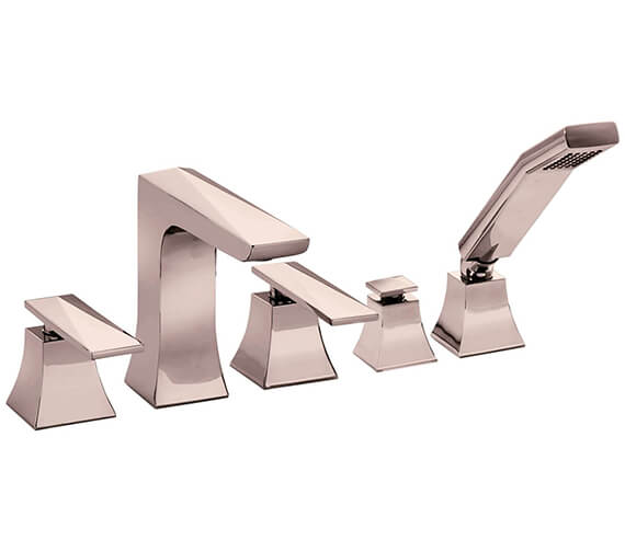 Additional image of Heritage Hemsby Chrome 5 Taphole Bath Shower Mixer Tap