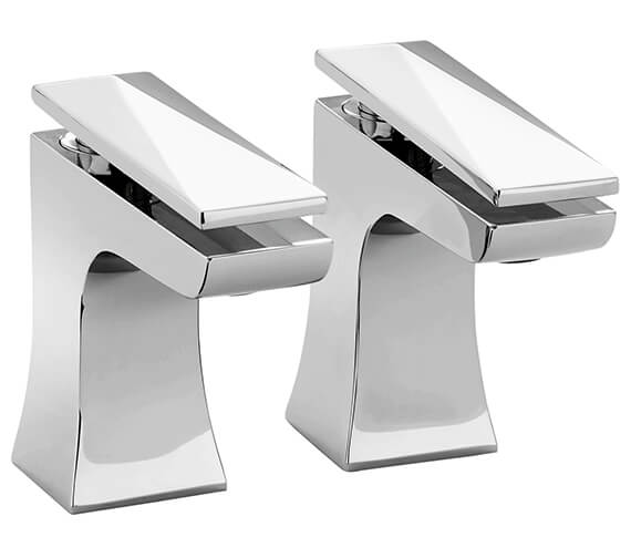 Heritage Hemsby Chrome Basin Pillar Taps