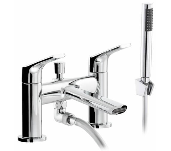 Abode Squire Deck Mounted Bath Shower Mixer Tap With Kit