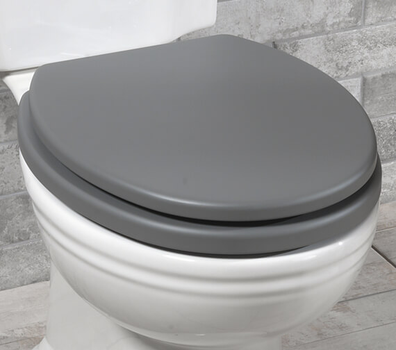 Silverdale Pale Grey Soft-Close Toilet Seat