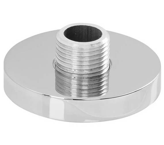 Abode Circular Deck Mounted Chrome Shower Outlet