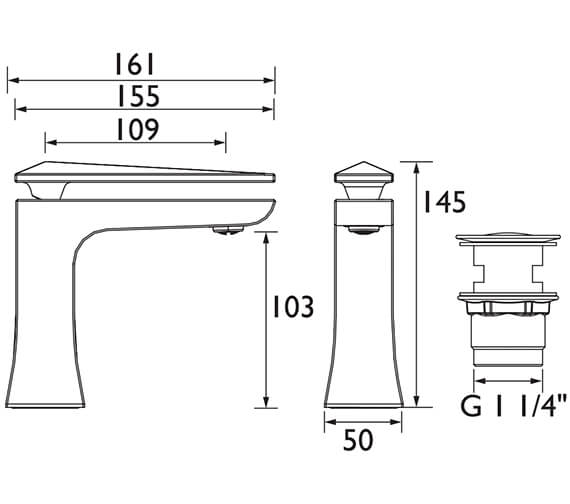 Technical drawing QS-V72664 / THPC04