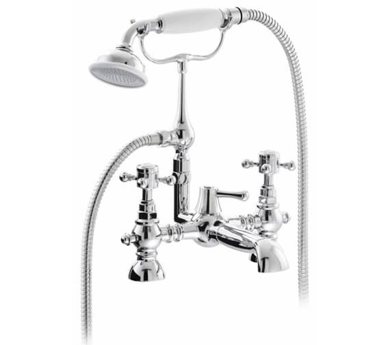 Abode Sentiment Deck Mounted Bath Shower Mixer Tap With Kit