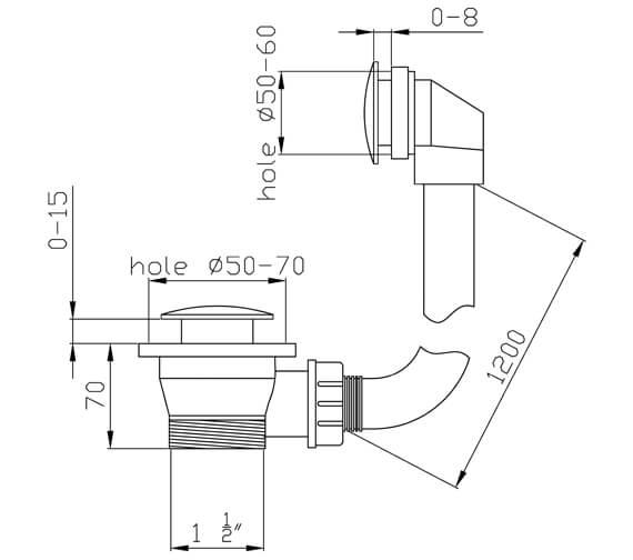 Technical drawing QS-V39450 / AB2423