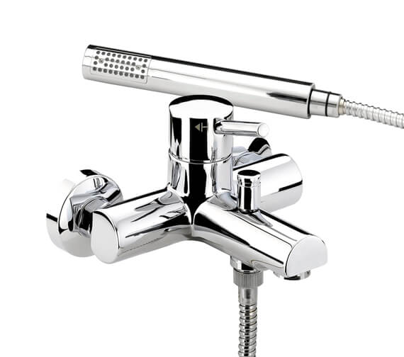 Bristan Prism Wall Mounted Bath Shower Mixer Tap With Kit