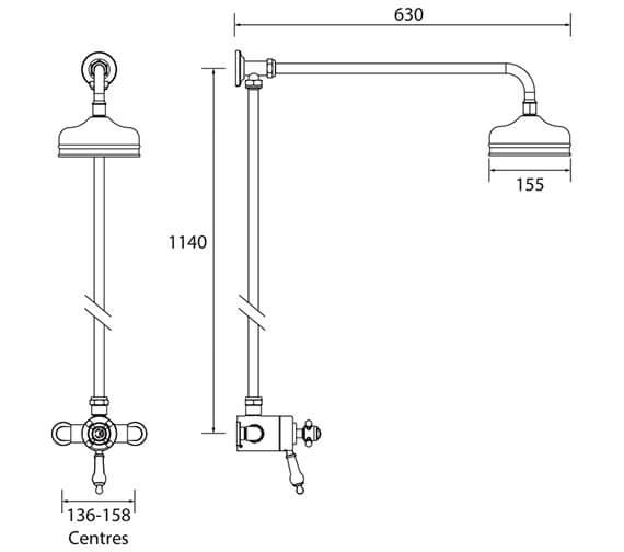 Technical drawing QS-V72731 / SHDDUAL07