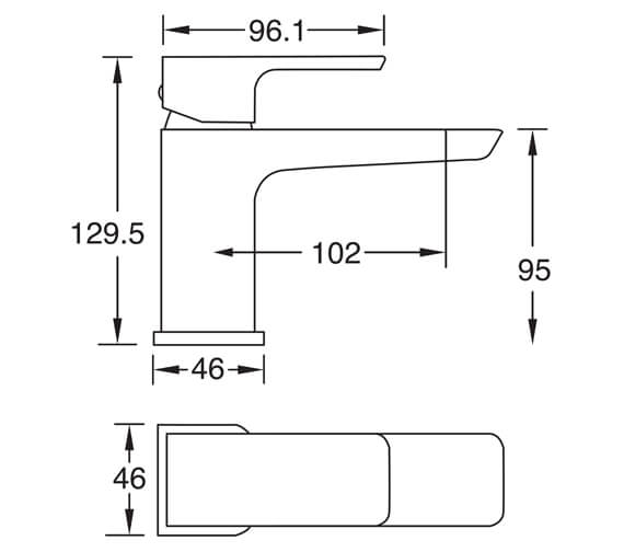 Technical drawing QS-V102712 / WAIBMCPUK