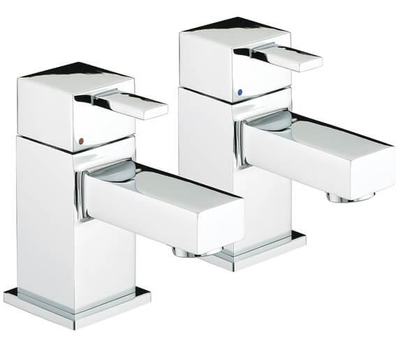 Additional image of Bristan Quadrato Deck Mounted Basin Taps