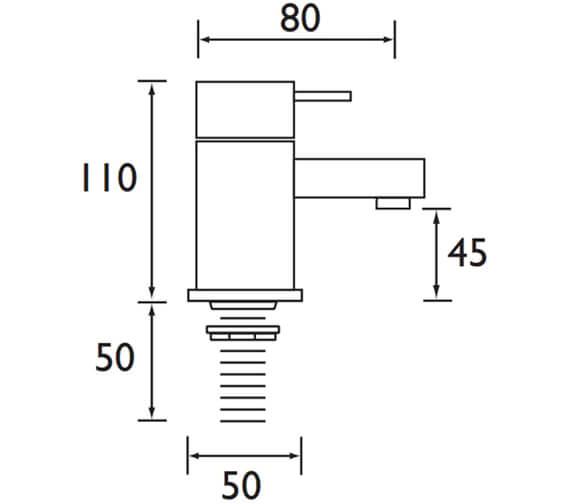 Technical drawing QS-V52119 / QD 1/2 C