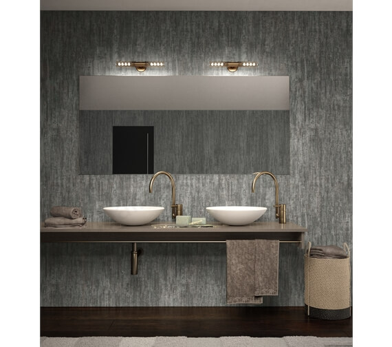 Nuance 2420mm x 580mm Shell Feature Wall Panel - Grey Gotas
