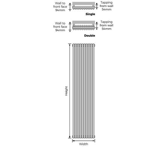 Technical drawing QS-V94044 / BATVWH-S-1800-08