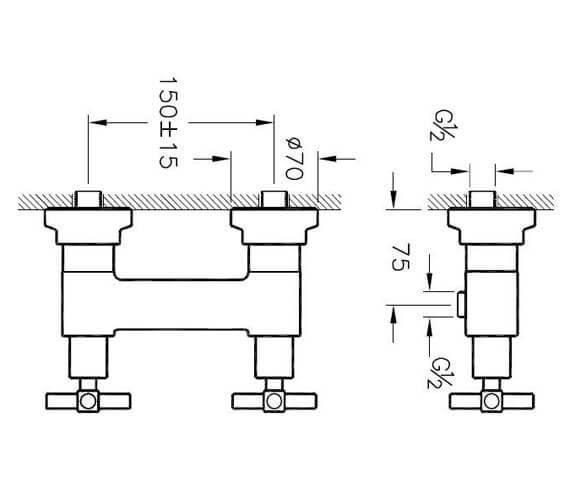 Technical drawing QS-V101324 / A40867EXP