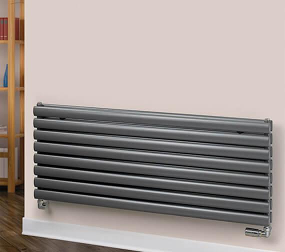 MHS Rads 2 Rails Finsbury 600mm High Horizontal Radiator - Single / Double