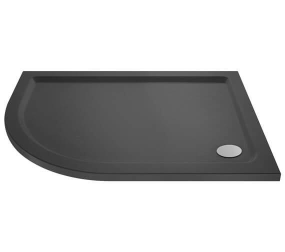 Additional image of Hudson Reed Pearlstone 40mm Slimline ABS Acrylic Offset Quadrant Shower Tray