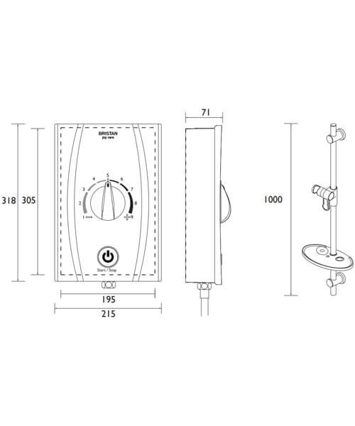 Technical drawing QS-V88373 / JOYTHCK85 W