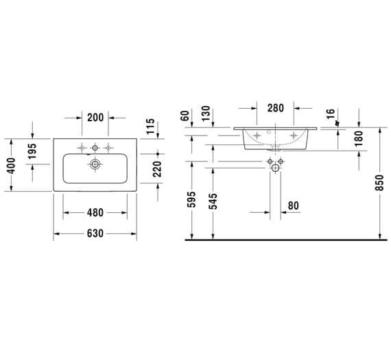 Technical drawing QS-V88888 / 2342630000