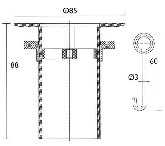 Technical drawing QS-V26112 / W SHW4 C