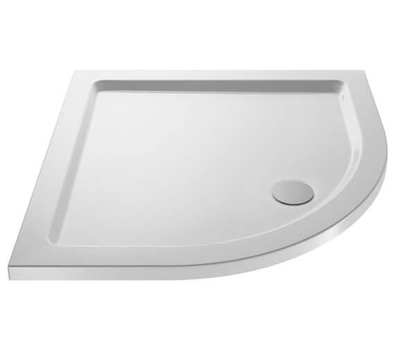 Hudson Reed Pearlstone 40mm Slimline ABS Acrylic Quadrant Shower Tray