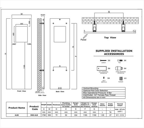 Technical drawing QS-V95308 / RND-ALBW