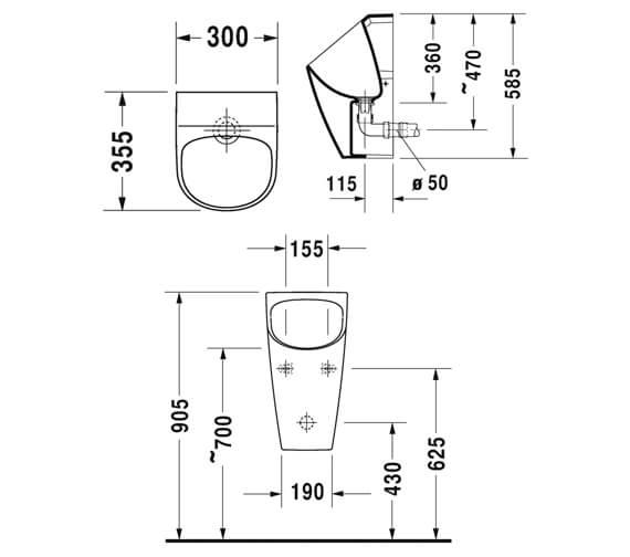 Technical drawing QS-V88891 / 2814300000