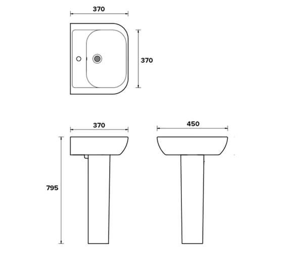 Technical drawing QS-V81324 / EC4006