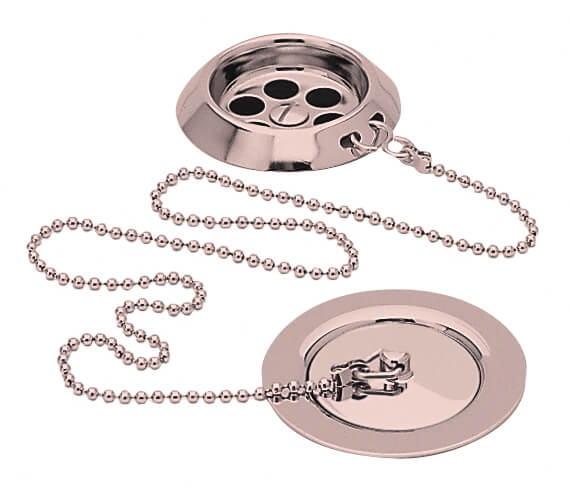 Additional image of Heritage Chrome Bath Waste With Plug And Chain