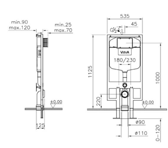 Technical drawing QS-V90827 / 748-4800-01