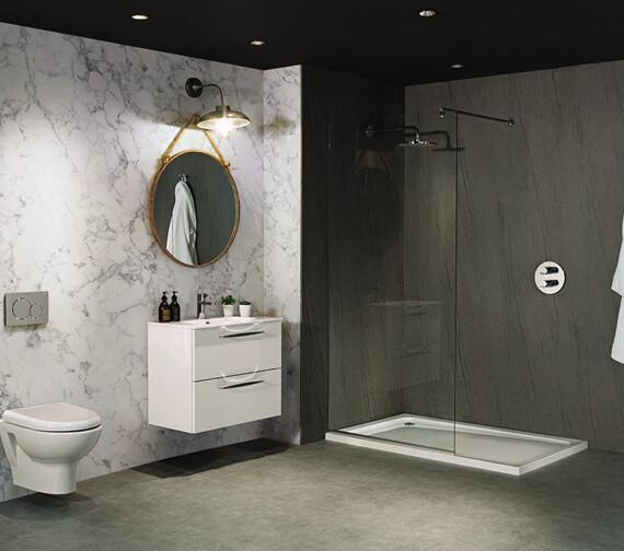 Nuance 2420mm x 1200mm Turin Marble Ultramatt-Laminate Postformed Wall Panel