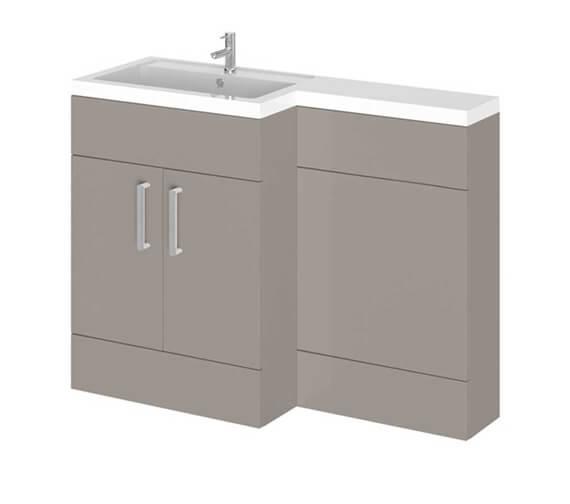 Essential Nevada L-Shape Floor Standing Washbasin Unit And Basin