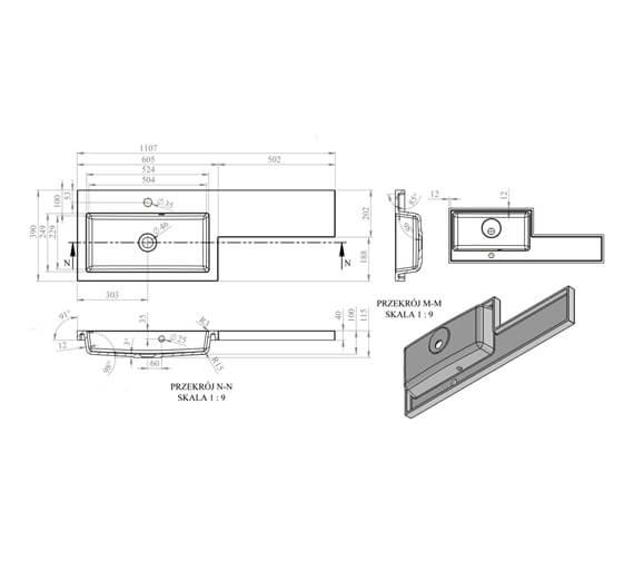 Technical drawing QS-V99402 / EFP309CA