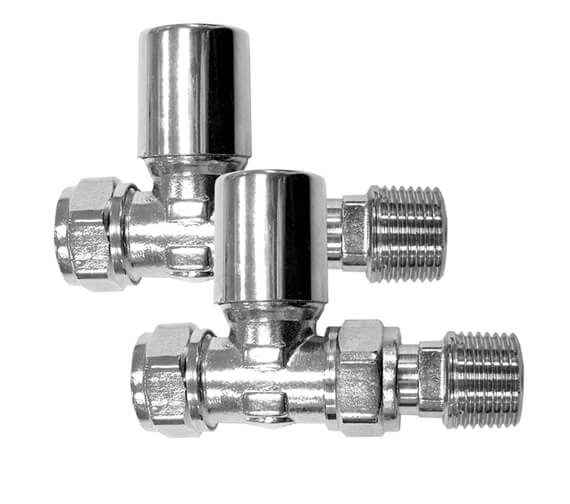 Essential Standard Straight Radiator Valve Pair - 148996