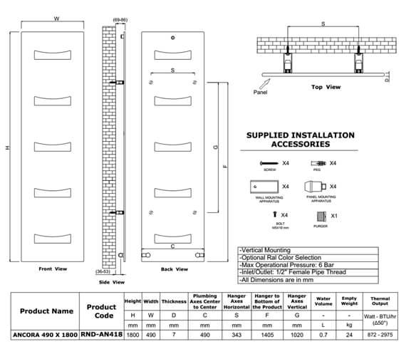 Technical drawing QS-V8158 / RND-AN418A