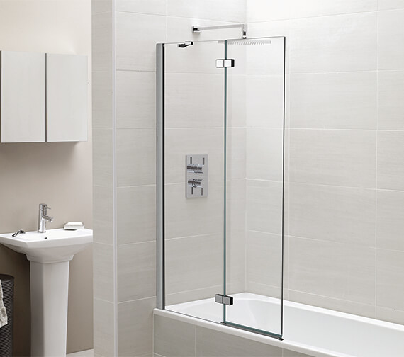April 1000 x 1500mm Two Panel Hinged Bath Screen