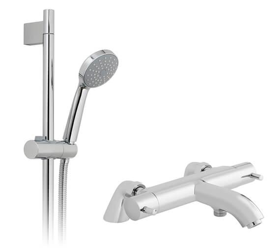 Vado Celsius Thermostatic Bath Shower Mixer Tap With Eris Shower Kit