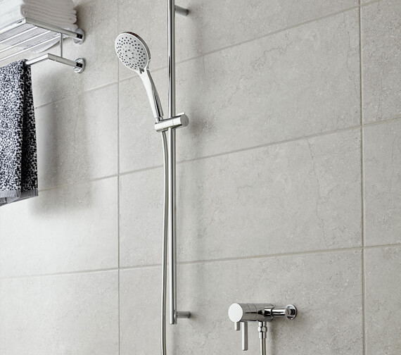 Vado Celsius Exposed Thermostatic Concentric Shower Valve With Atmosphere Slide Rail Kit