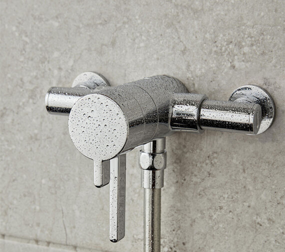 Vado Celsius Exposed Thermostatic Mini Concentric Shower Valve