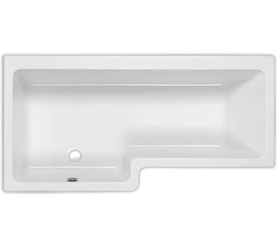 Additional image of Carron Quantum 5mm Acrylic Shower Bath 1600 x 700-850mm - Left Hand