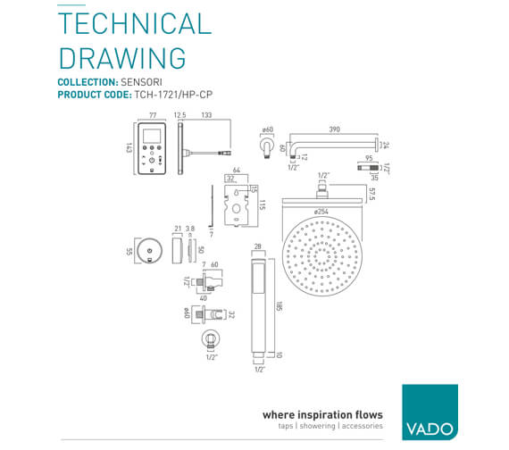 Technical drawing QS-V99469 / TCH-1721/HP-CP
