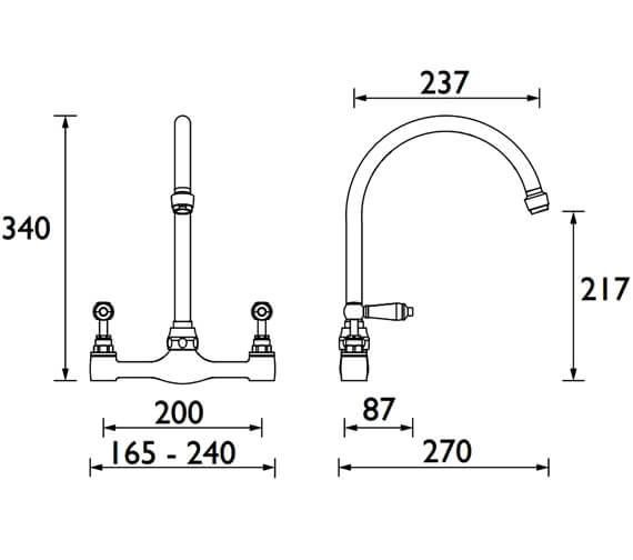 Technical drawing QS-V53097 / RS DSM C