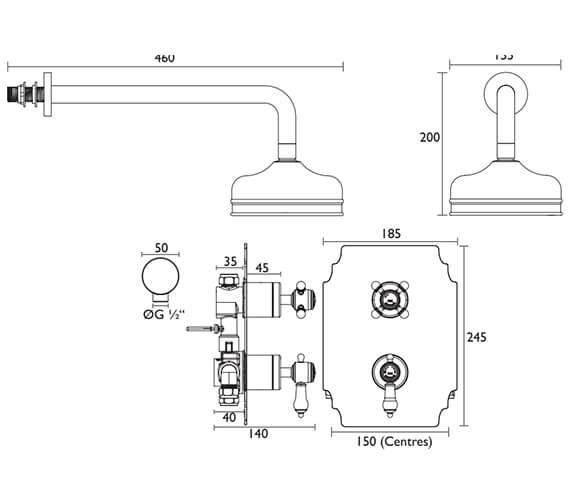 Technical drawing QS-V82386 / SGDUAL01