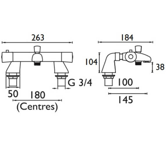 Technical drawing QS-V52190 / AR2 THBSM C